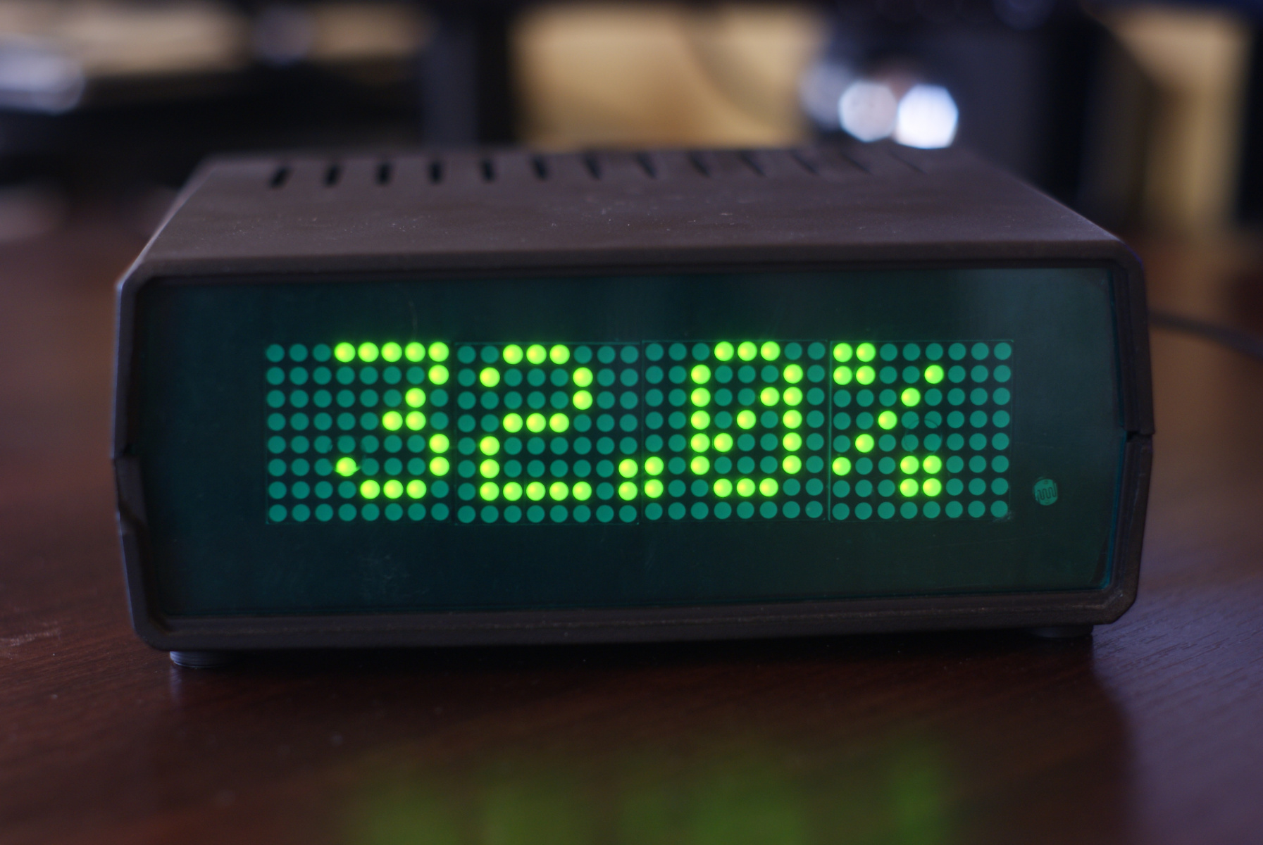 Zegar LED - wilgotność