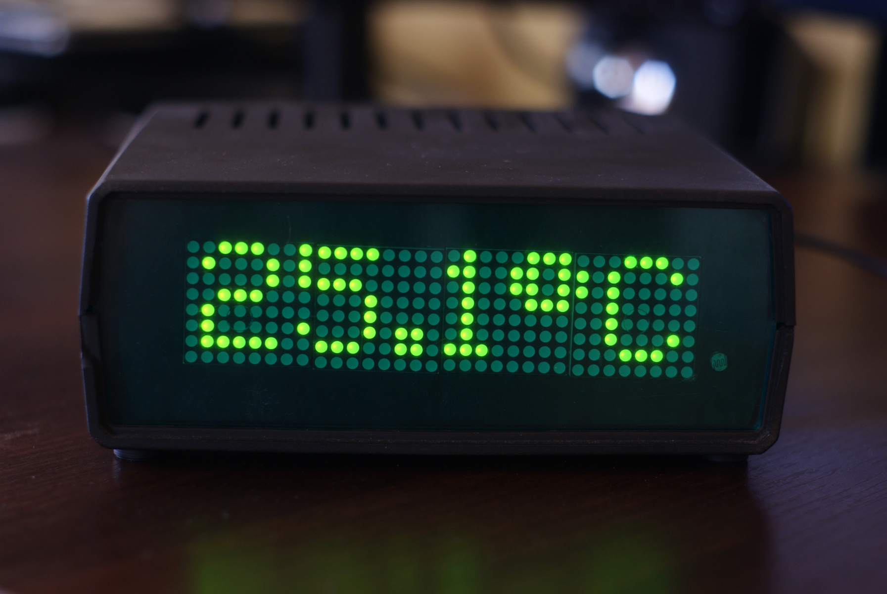 Zegar LED - temperatura