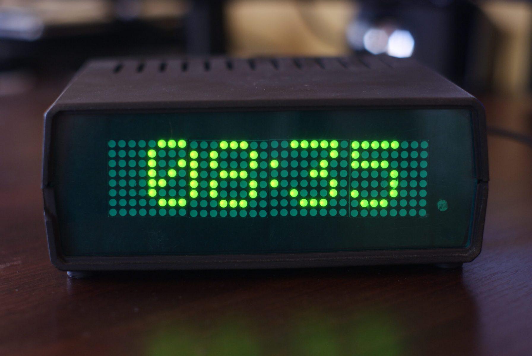 Zegar LED - prezentacja