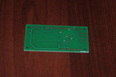 Zegar LED - płytka PCB (bottom)
