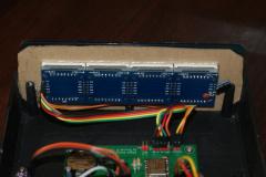 Zegar LED - tył wyświetlacza