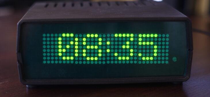 Matrycowy zegar LED z termometrem i WiFi